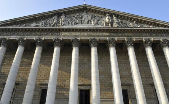 19/09/2008 : Le peristyle, la colonnade et le fronton du Palais Bourbon façade